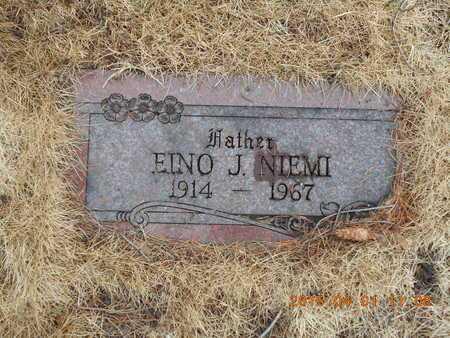 NIEMI, EINO J. - Marquette County, Michigan | EINO J. NIEMI - Michigan Gravestone Photos