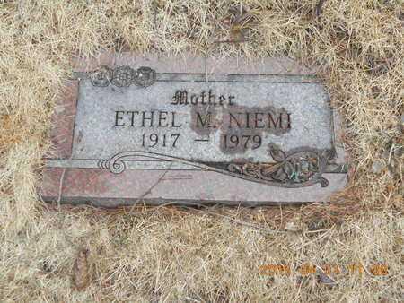 NIEMI, ETHEL M. - Marquette County, Michigan | ETHEL M. NIEMI - Michigan Gravestone Photos