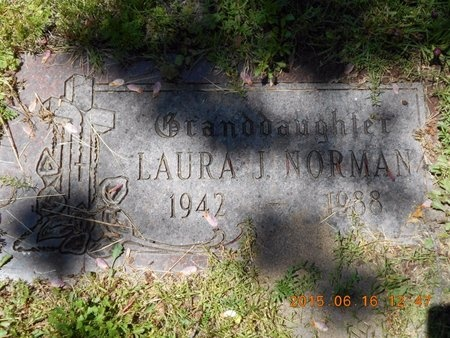 NORMAN, LAURA J. - Marquette County, Michigan | LAURA J. NORMAN - Michigan Gravestone Photos