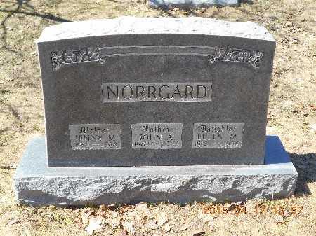 NORRGARD, JOHN A. - Marquette County, Michigan | JOHN A. NORRGARD - Michigan Gravestone Photos