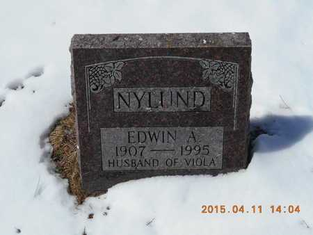 NYLUND, EDWIN A. - Marquette County, Michigan | EDWIN A. NYLUND - Michigan Gravestone Photos