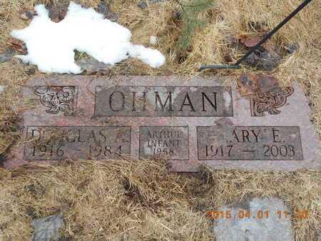 OHMAN, DOUGLAS A. - Marquette County, Michigan | DOUGLAS A. OHMAN - Michigan Gravestone Photos