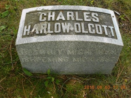 OLCOTT, CHARLES HARLOW - Marquette County, Michigan | CHARLES HARLOW OLCOTT - Michigan Gravestone Photos