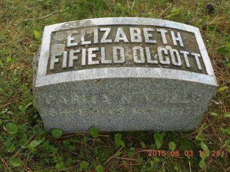 FIFIELD OLCOTT, ELIZABETH - Marquette County, Michigan | ELIZABETH FIFIELD OLCOTT - Michigan Gravestone Photos
