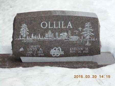 OLLILA, UNTO A. - Marquette County, Michigan | UNTO A. OLLILA - Michigan Gravestone Photos