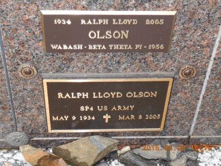 OLSON, RALPH LLOYD - Marquette County, Michigan   RALPH LLOYD OLSON - Michigan Gravestone Photos