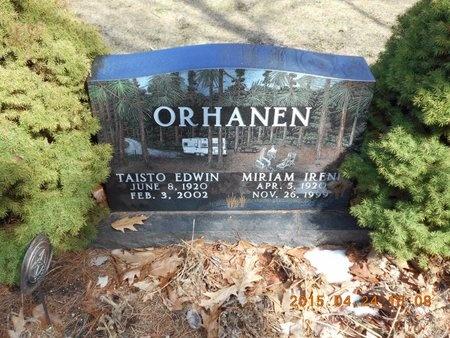 ORHANEN, MIRIAM IRENE - Marquette County, Michigan | MIRIAM IRENE ORHANEN - Michigan Gravestone Photos