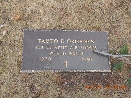 ORHANEN, TAISTO EDWIN - Marquette County, Michigan | TAISTO EDWIN ORHANEN - Michigan Gravestone Photos