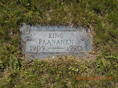 PAANANEN, EINO - Marquette County, Michigan | EINO PAANANEN - Michigan Gravestone Photos