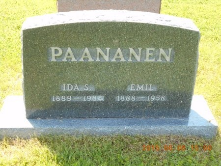 PAANANEN, IDA S. - Marquette County, Michigan | IDA S. PAANANEN - Michigan Gravestone Photos