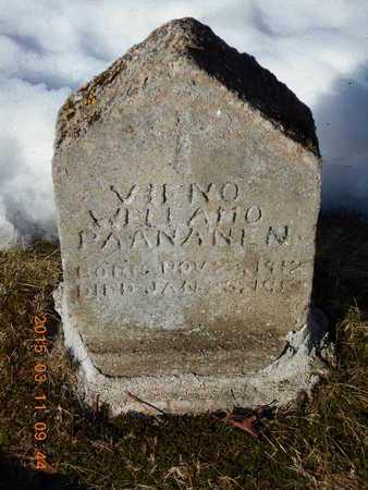PAANANEN, VIENO WELLAMO - Marquette County, Michigan   VIENO WELLAMO PAANANEN - Michigan Gravestone Photos
