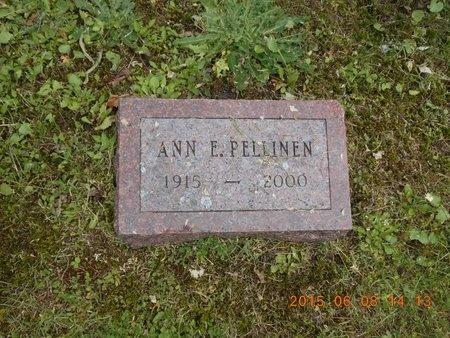PELLINEN, ANN E. - Marquette County, Michigan | ANN E. PELLINEN - Michigan Gravestone Photos