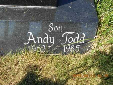 PELTO, ANDY TODD - Marquette County, Michigan   ANDY TODD PELTO - Michigan Gravestone Photos