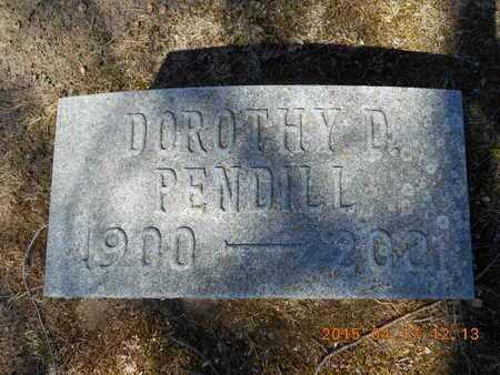 PENDILL, DOROTHY D. - Marquette County, Michigan   DOROTHY D. PENDILL - Michigan Gravestone Photos
