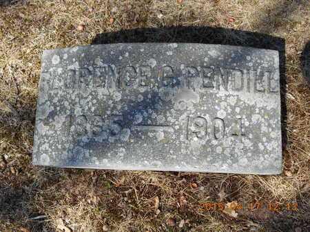 PENDILL, FLORENCE G. - Marquette County, Michigan | FLORENCE G. PENDILL - Michigan Gravestone Photos