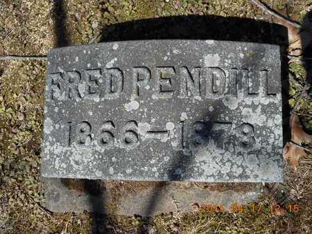 PENDILL, FRED - Marquette County, Michigan   FRED PENDILL - Michigan Gravestone Photos