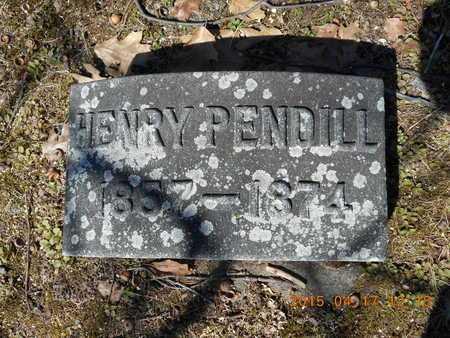 PENDILL, HENRY - Marquette County, Michigan   HENRY PENDILL - Michigan Gravestone Photos