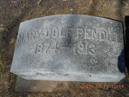 PENDILL, MARY - Marquette County, Michigan   MARY PENDILL - Michigan Gravestone Photos