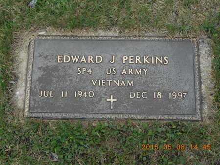 PERKINS, EDWARD J. - Marquette County, Michigan   EDWARD J. PERKINS - Michigan Gravestone Photos
