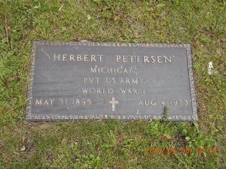 PETERSEN, HERBERT J. - Marquette County, Michigan | HERBERT J. PETERSEN - Michigan Gravestone Photos
