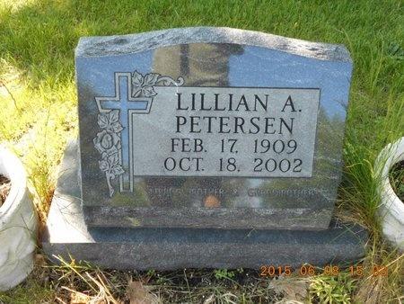 PETERSEN, LILLIAN A. - Marquette County, Michigan | LILLIAN A. PETERSEN - Michigan Gravestone Photos