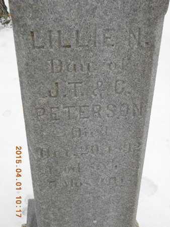 PETERSON, LILLIE N. - Marquette County, Michigan | LILLIE N. PETERSON - Michigan Gravestone Photos
