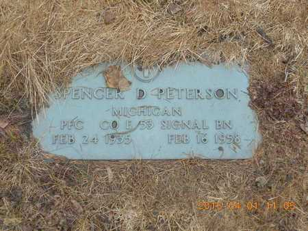 PETERSON, SPENCER D. - Marquette County, Michigan | SPENCER D. PETERSON - Michigan Gravestone Photos