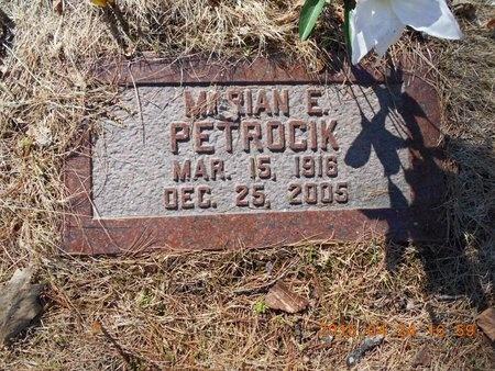 PETROCIK, MARIAN E. - Marquette County, Michigan | MARIAN E. PETROCIK - Michigan Gravestone Photos