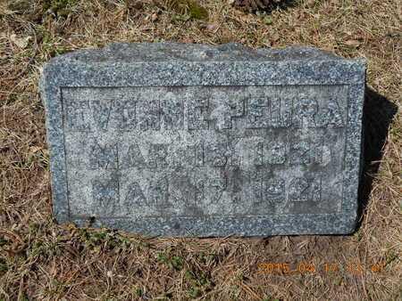 PEURA, EVONNE - Marquette County, Michigan   EVONNE PEURA - Michigan Gravestone Photos