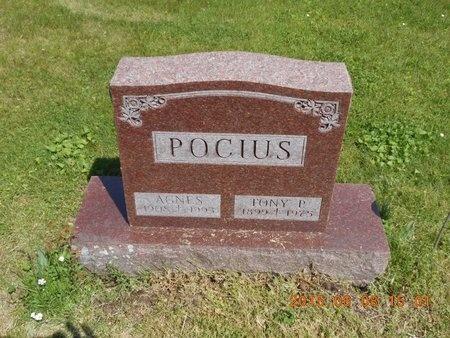 POCIUS, AGNES - Marquette County, Michigan   AGNES POCIUS - Michigan Gravestone Photos