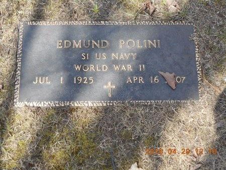POLINI, EDMUND - Marquette County, Michigan   EDMUND POLINI - Michigan Gravestone Photos