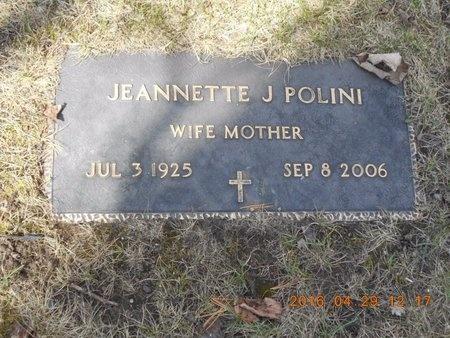 POLINI, JEANNETTE J. - Marquette County, Michigan   JEANNETTE J. POLINI - Michigan Gravestone Photos