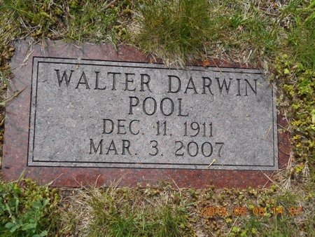 POOL, WALTER DARWIN - Marquette County, Michigan   WALTER DARWIN POOL - Michigan Gravestone Photos