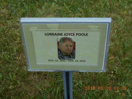 POOLE, LORRAINE JOYCE - Marquette County, Michigan | LORRAINE JOYCE POOLE - Michigan Gravestone Photos