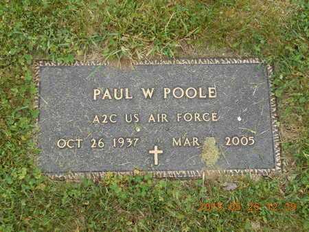 POOLE, PAUL W. - Marquette County, Michigan   PAUL W. POOLE - Michigan Gravestone Photos