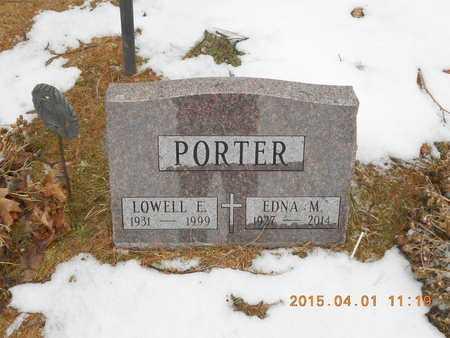 PORTER, LOWELL E. - Marquette County, Michigan   LOWELL E. PORTER - Michigan Gravestone Photos