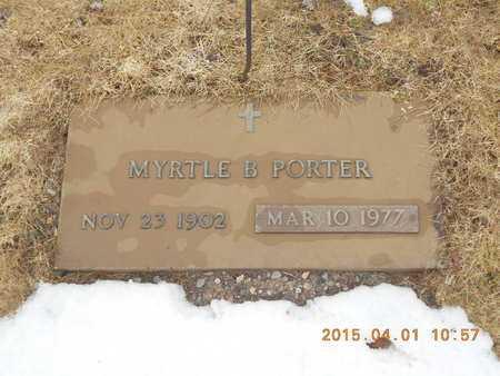 PORTER, MYRTLE B. - Marquette County, Michigan   MYRTLE B. PORTER - Michigan Gravestone Photos