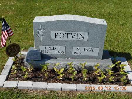 POTVIN, FRED PAUL - Marquette County, Michigan | FRED PAUL POTVIN - Michigan Gravestone Photos
