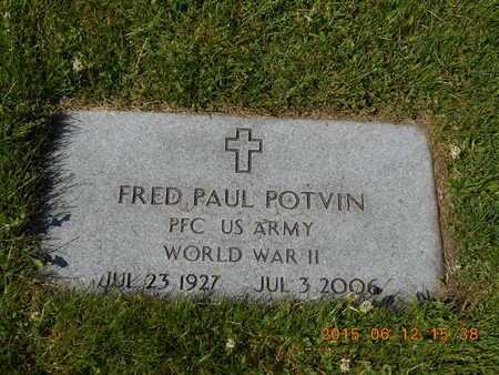 POTVIN, FRED PAUL - Marquette County, Michigan   FRED PAUL POTVIN - Michigan Gravestone Photos