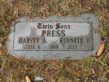 PRESS, KENNETH E. - Marquette County, Michigan   KENNETH E. PRESS - Michigan Gravestone Photos