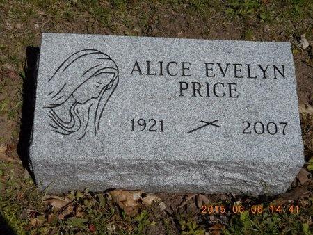 PRICE, ALICE EVELYN - Marquette County, Michigan   ALICE EVELYN PRICE - Michigan Gravestone Photos