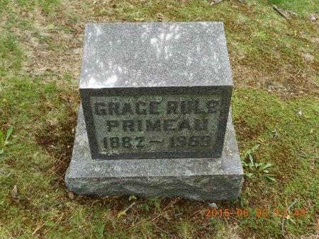 RULE PRIMEAU, GRACE - Marquette County, Michigan   GRACE RULE PRIMEAU - Michigan Gravestone Photos