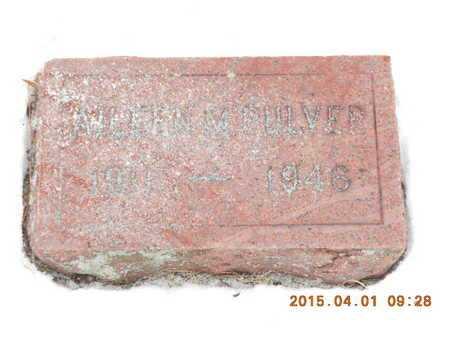 PULVER, AILEEN M. - Marquette County, Michigan | AILEEN M. PULVER - Michigan Gravestone Photos