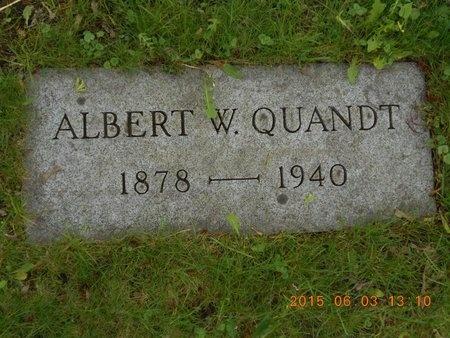 QUANDT, ALBERT W. - Marquette County, Michigan | ALBERT W. QUANDT - Michigan Gravestone Photos
