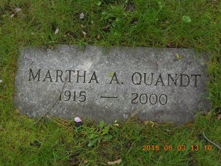 QUANDT, MARTHA A. - Marquette County, Michigan   MARTHA A. QUANDT - Michigan Gravestone Photos