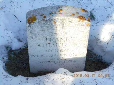 QUARTERS, FRANK - Marquette County, Michigan   FRANK QUARTERS - Michigan Gravestone Photos
