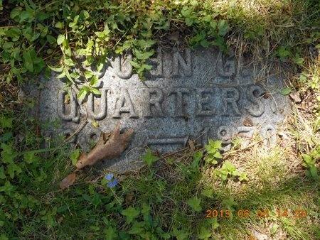 QUARTERS, JOHN G. - Marquette County, Michigan   JOHN G. QUARTERS - Michigan Gravestone Photos