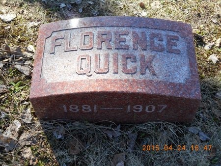 QUICK, FLORENCE - Marquette County, Michigan | FLORENCE QUICK - Michigan Gravestone Photos