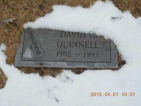 QUINNELL, DAVID G. - Marquette County, Michigan   DAVID G. QUINNELL - Michigan Gravestone Photos