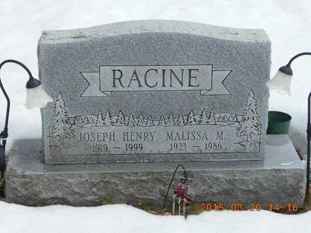 RACINE, JOSEPH HENRY - Marquette County, Michigan | JOSEPH HENRY RACINE - Michigan Gravestone Photos